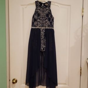 Semi formal walk through maxi dress w/ free gift